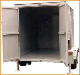 Equipement de chantier container sur remorque for Container bois occasion